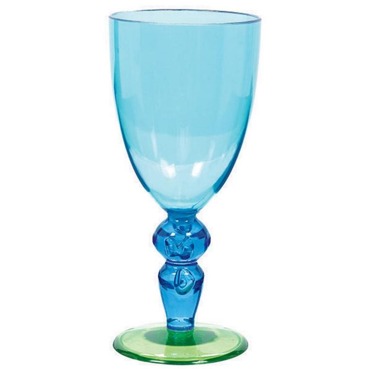 Coloured Wine Glass - Blue