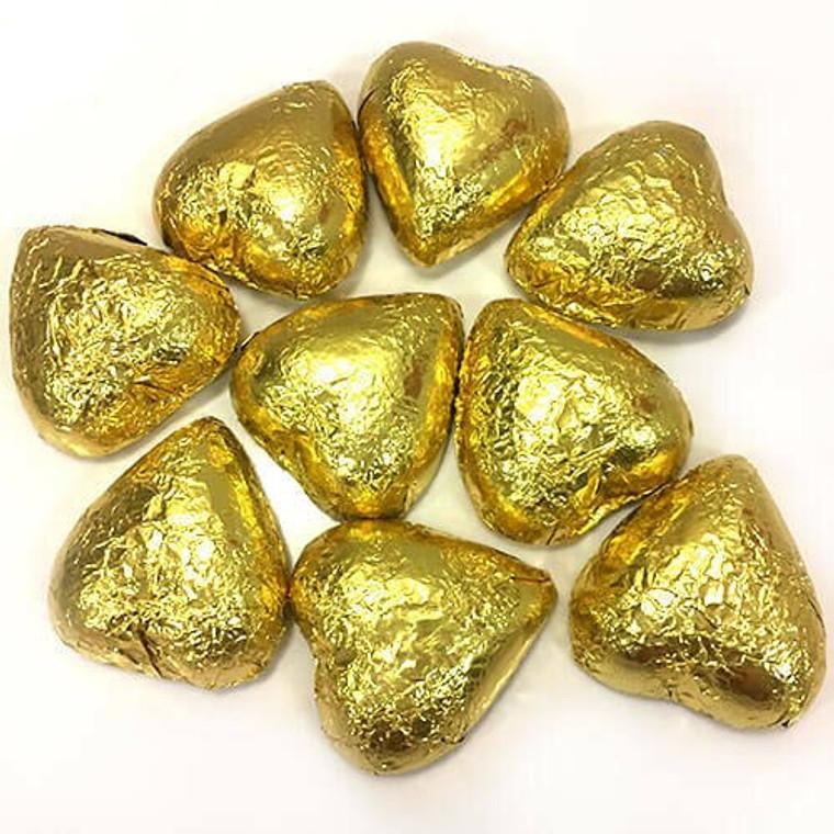 Milk Chocolate Hearts - Gold 77g