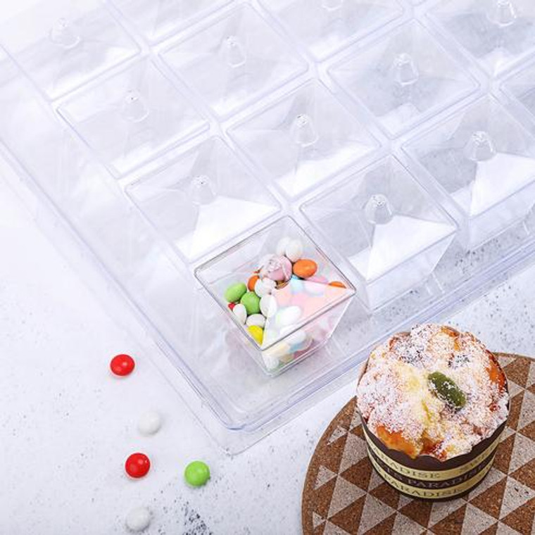 20 Mini Dessert Cups W/Lid and Tray