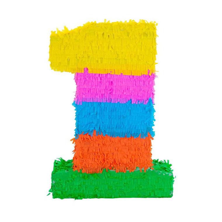 Number 1 Pinata - Multicolour