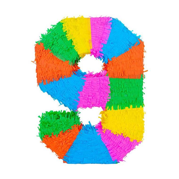 Number 9 Pinata - Multicolour