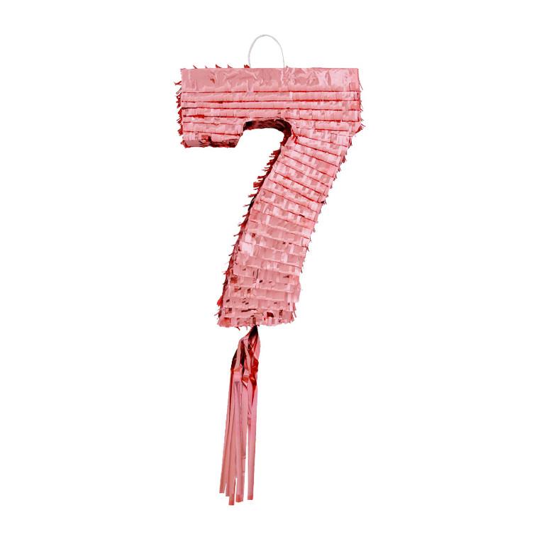 Number 7 Pinata - Rose Gold