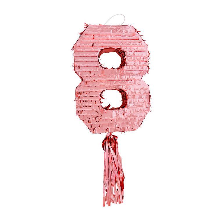 Number 8 Pinata - Rose Gold