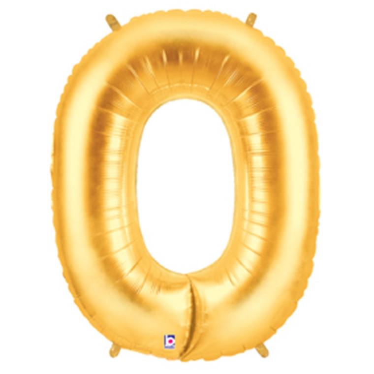 Megaloon Numeric 0 Gold- Premium Balloon