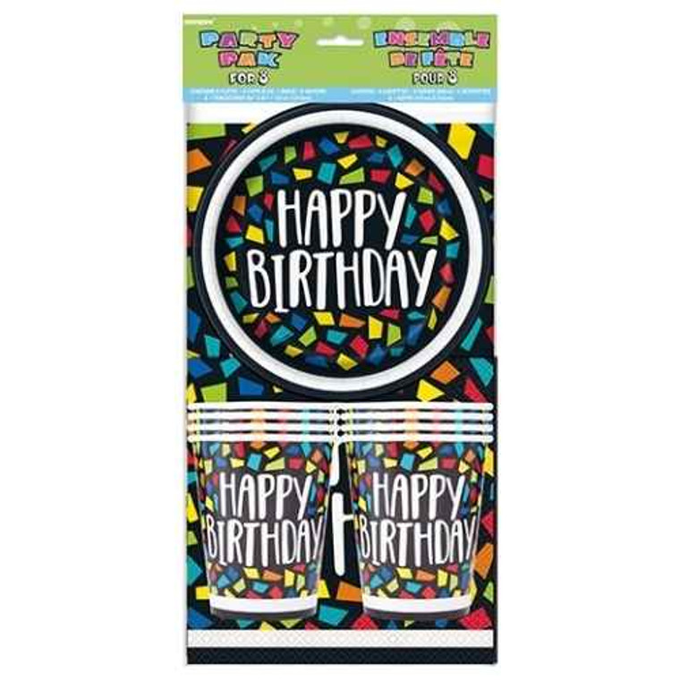 Colour Mosaic Party Pack For 8