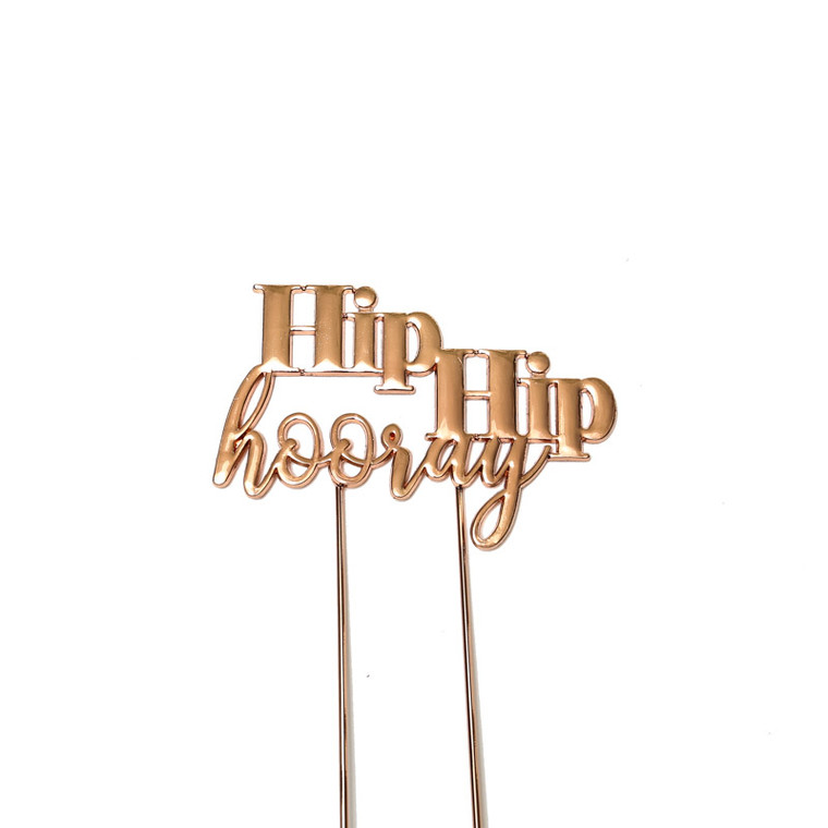 Rose Gold Cake Topper - Hip Hip Hooray