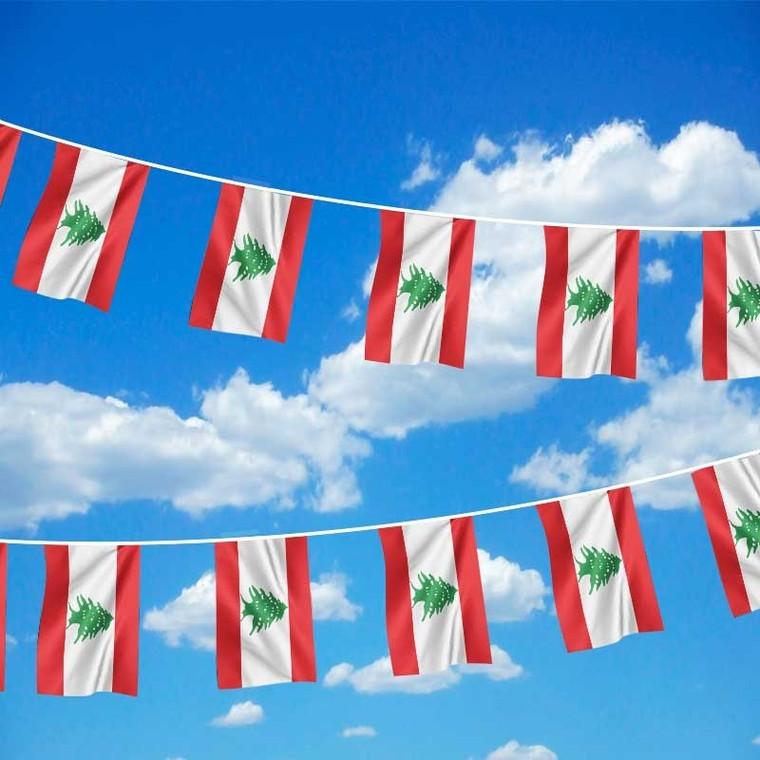 Lebanon Flag Bunting - 6m