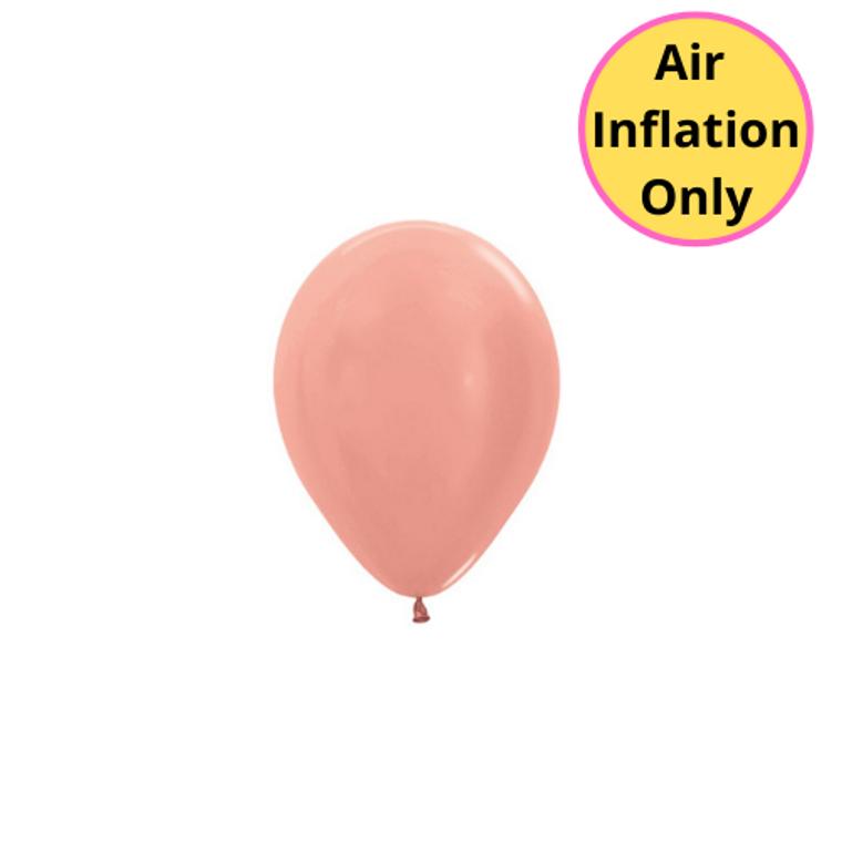 12cm Latex Balloons Shimmer Rose Gold Each