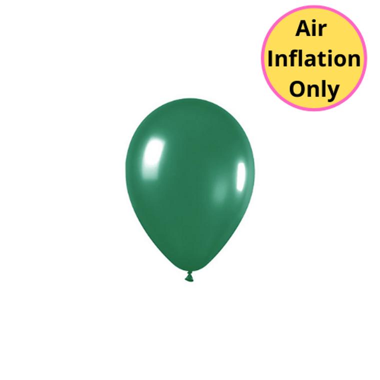 12cm Latex Balloons Matte Forest Green 100pk