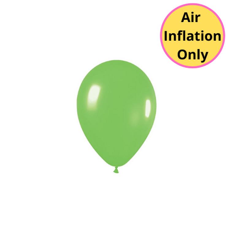 12cm Latex Balloons Matte Lime Green Each