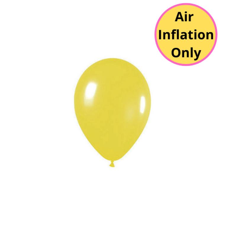 12cm Latex Balloons Matte Yellow Each