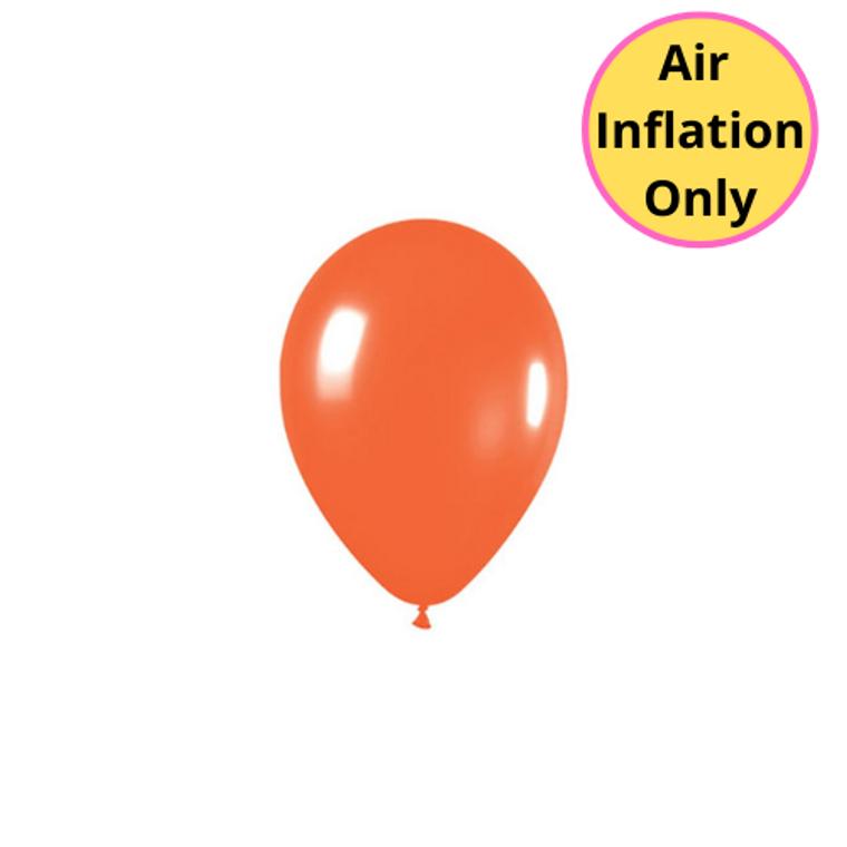 12cm Latex Balloons Matte Orange 100pk