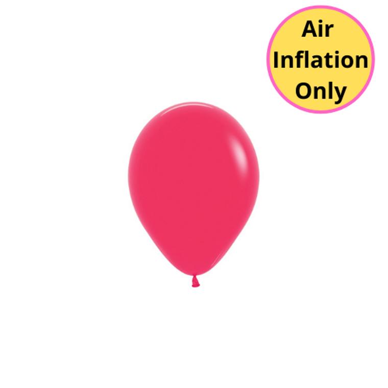 12cm Latex Balloons Matte Raspberry Each