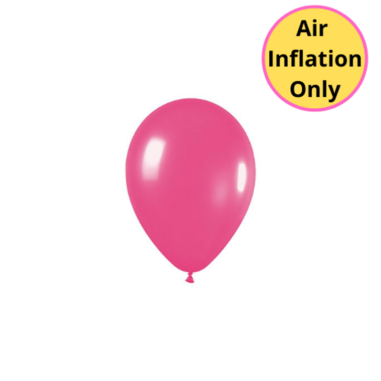 12cm Latex Balloons Matte Fuchsia 100pk