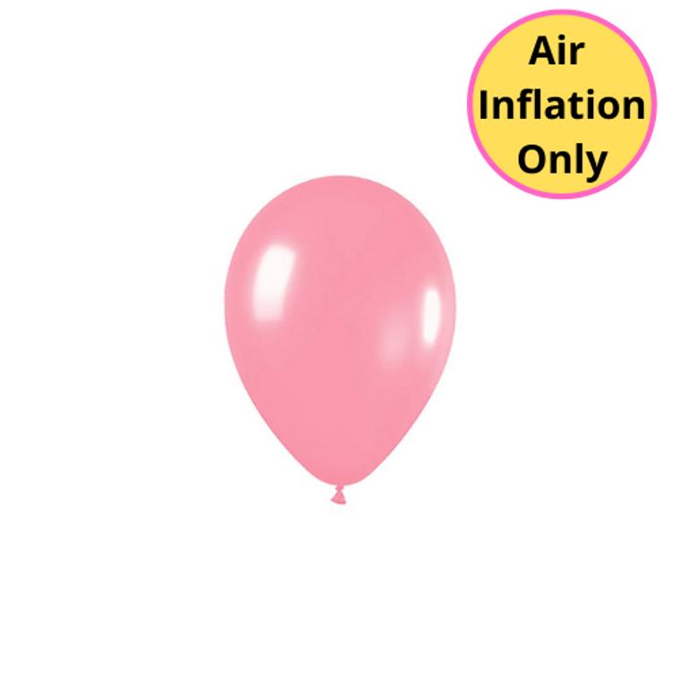12cm Latex Balloons Matte Pink Each