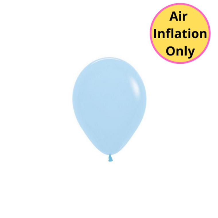 12cm Latex Balloons Matte Pastel Blue 100pk