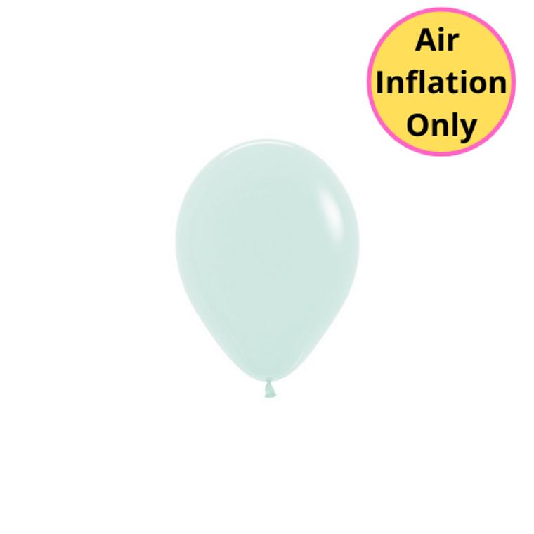 12cm Latex Balloons Matte Pastel Green 100pk
