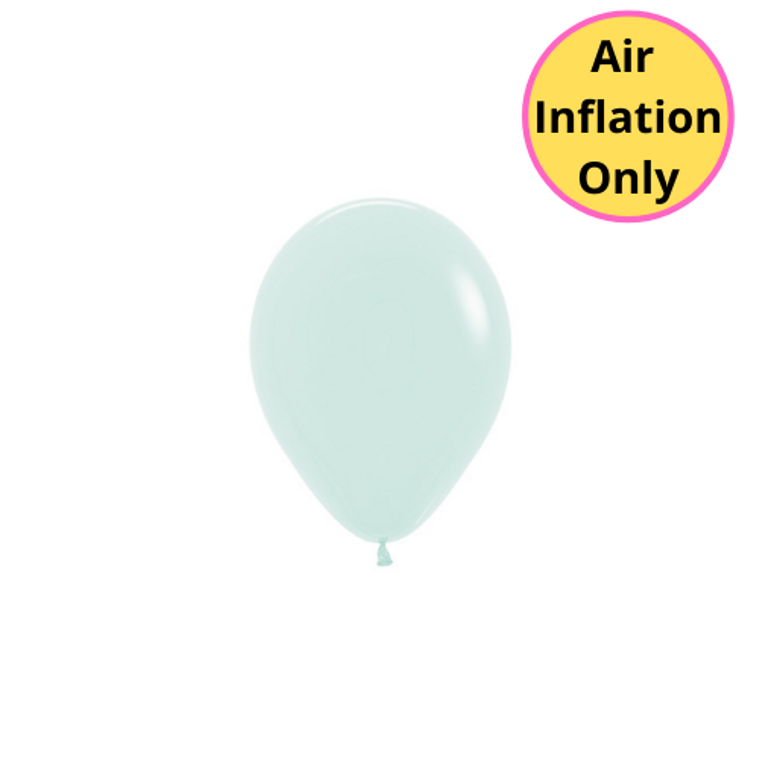 12cm Latex Balloons Matte Pastel Green Each