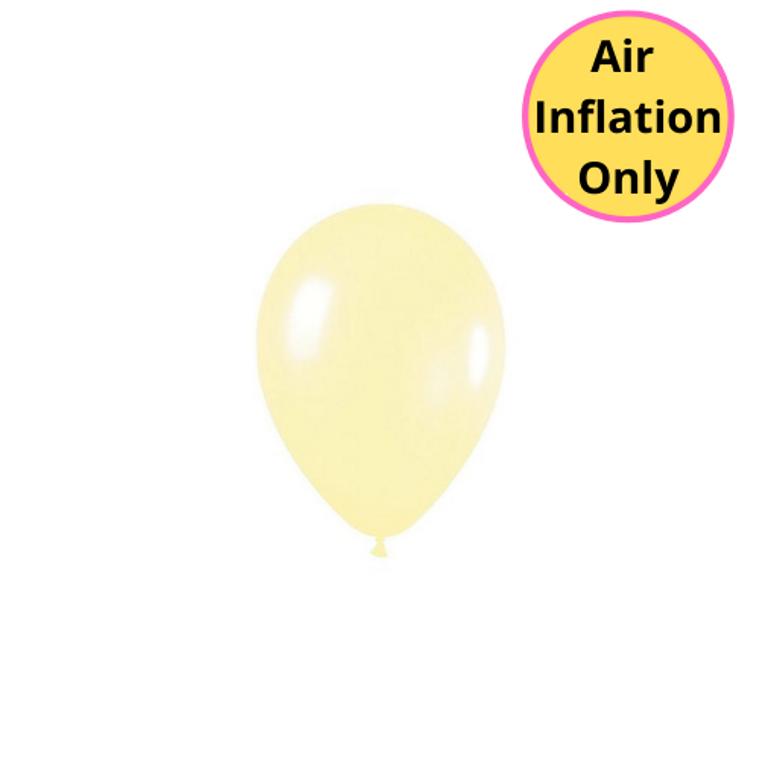 12cm Latex Balloons Matte Pastel Yellow 100pk