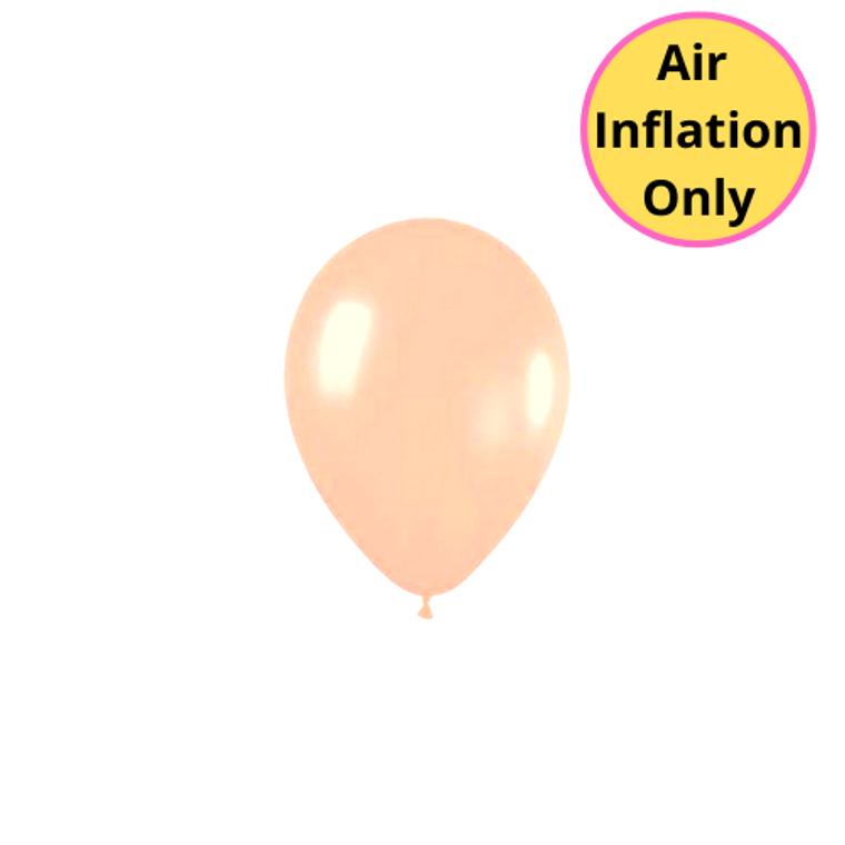 12cm Latex Balloons Matte Peach 100pk