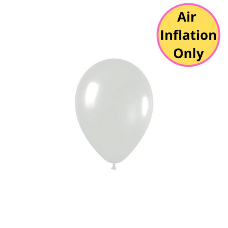 12cm Latex Balloons Crystal Clear 100pk