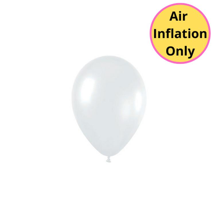 12cm Latex Balloons Shimmer Pearl White 100pk