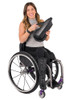The SmartDrive MX2 is light weight and easy to take on and off of your wheelchair.