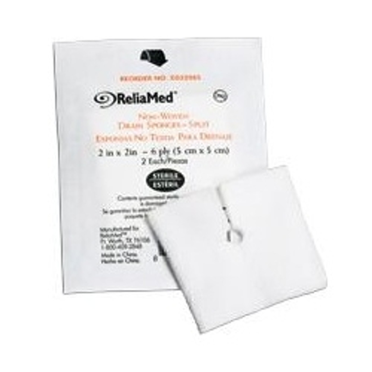 """ReliaMed Soft Sponge, Fenestrated 2"""" x 2"""" or 4"""" x 4"""""""