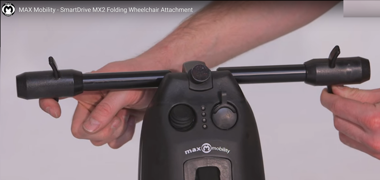 Mounting Hitch (Axle Clamps) for SmartDrive for Rigid and folding chair.