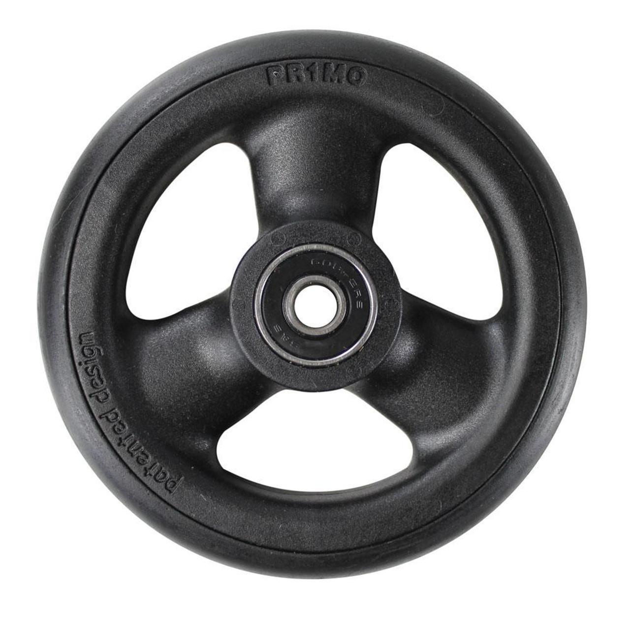 "4 x 1"" HOLLOW SPOKE Caster Wheel Urethane Round Tire"