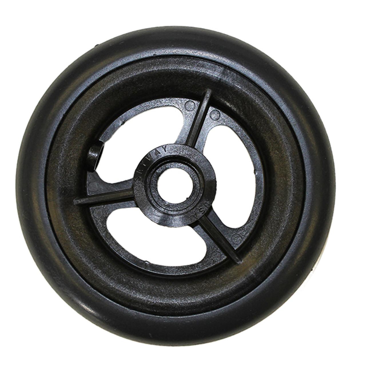 "5 x 1"" 3 SPOKE MAG Caster Wheel Urethane Round Tire"