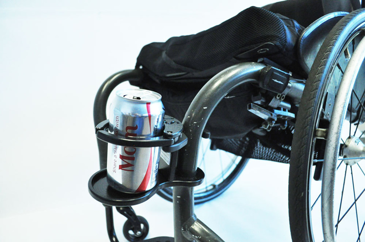 Wheelchair Cupholder with a soda can