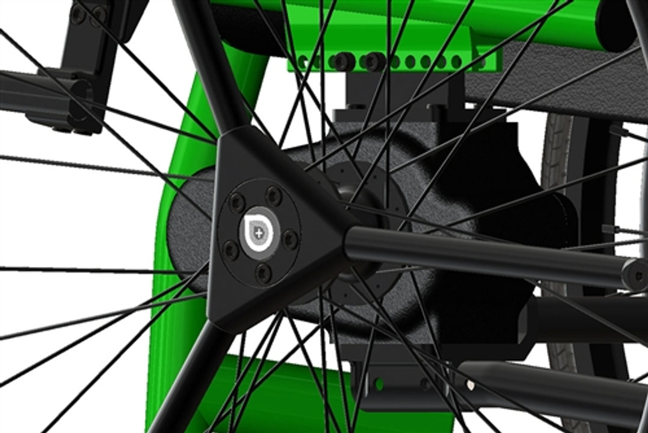 Tailwind Power Assist Wheelchair Hub Cap with Soft Roll (Rear)