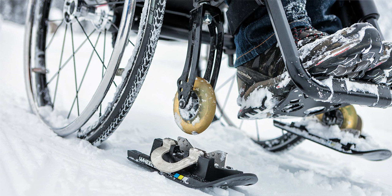 Wheel Blades S- Wheelchair skis for snow and sand (sold as a pair)