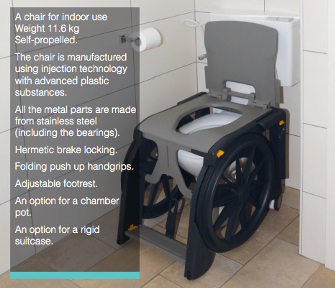 WheelAble folding commode and shower chair