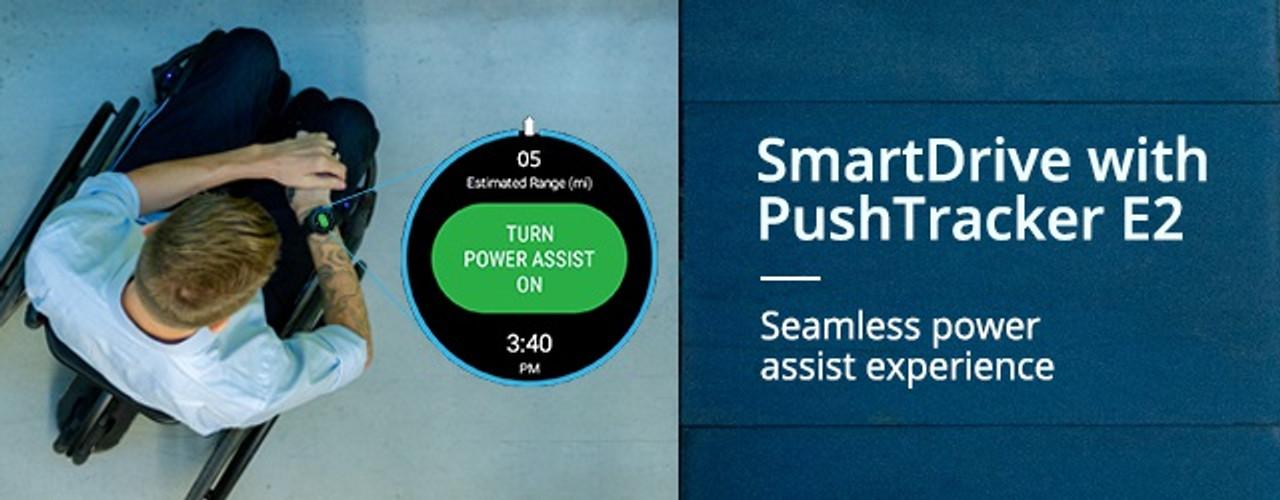 SmartDrive PushTracker E2 wrist band and watch.