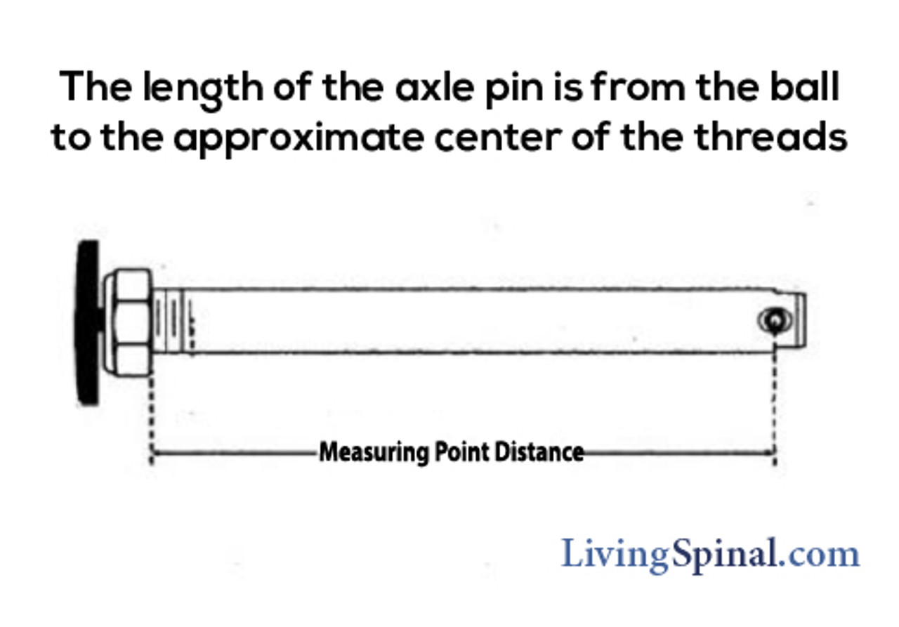 How to measure a wheelchairs axle pin length