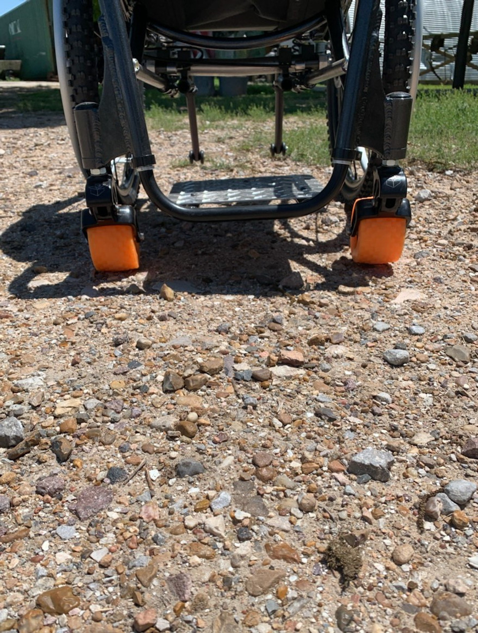 Off-Road Recoils, A Caster Suspension Solution by Box Wheelchairs
