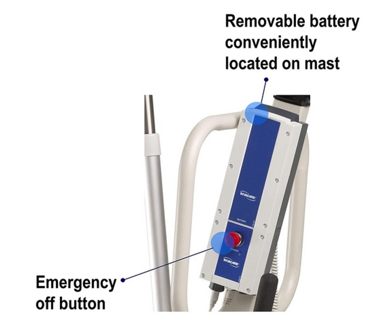 Reliant 450 Battery-Powered Lift with Power-Opening Low Base, by Invacare