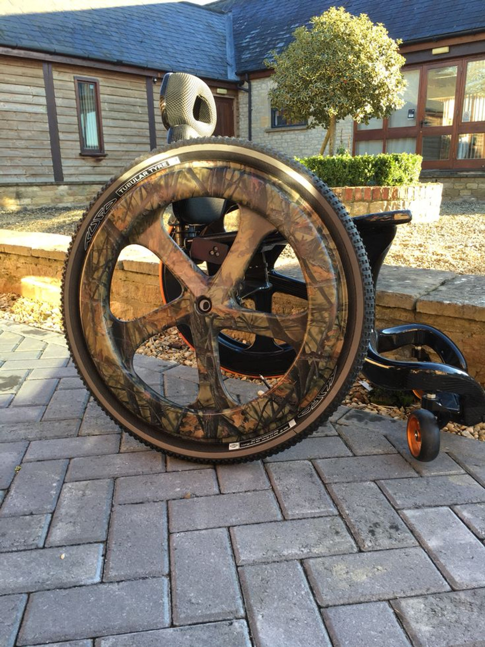Carbon Black Wheelchair Camo Wheel Option