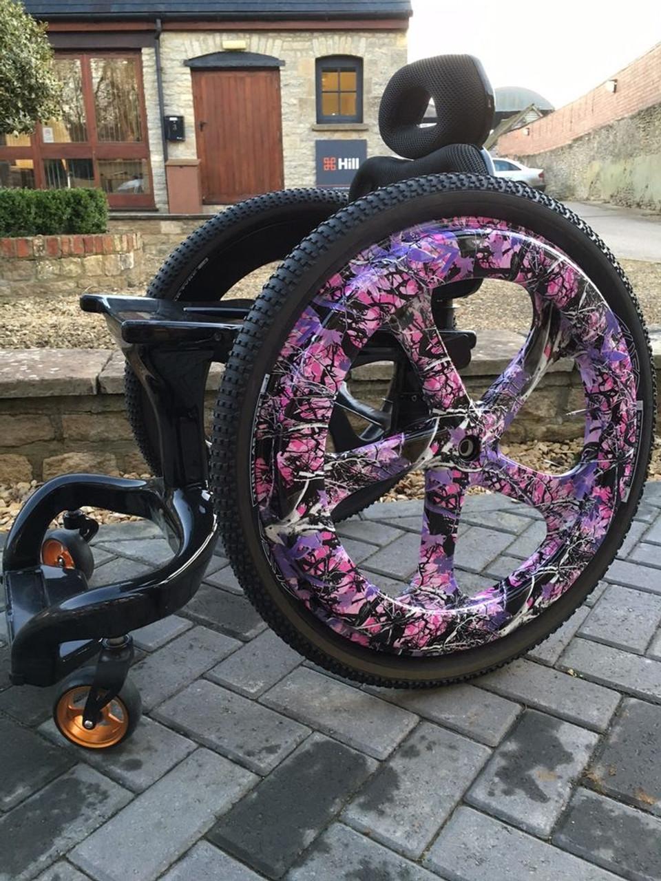 Carbon Black Wheelchair Creative Wheel Colors