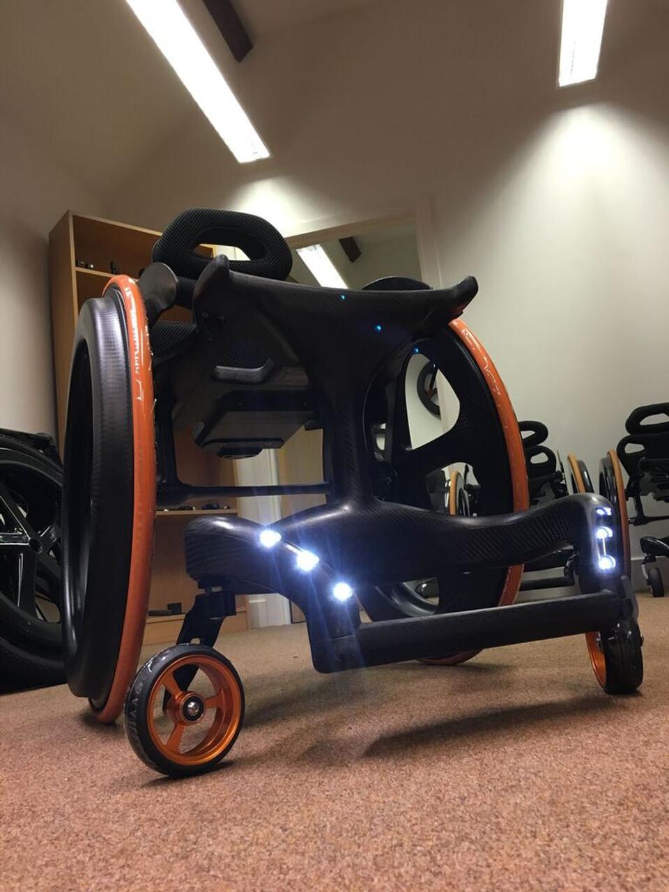 Carbon Black Wheelchair LED Option