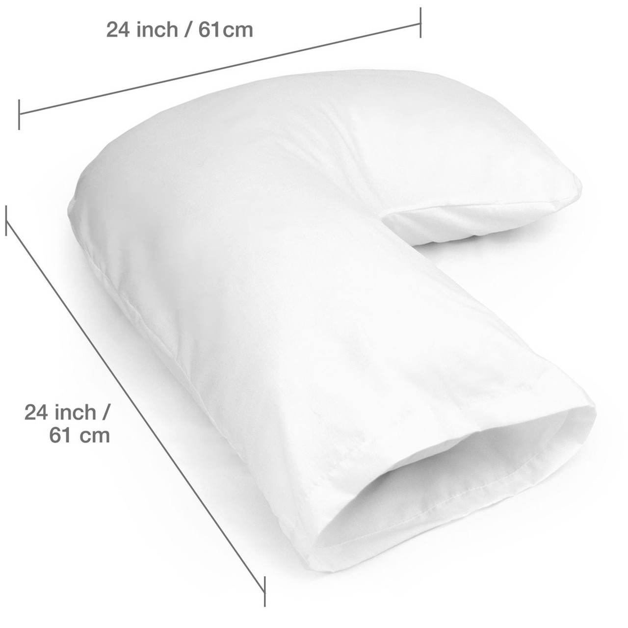 DMI® Hugg-A-Pillow Hypoallergenic Bed Pillow, by Healthsmart