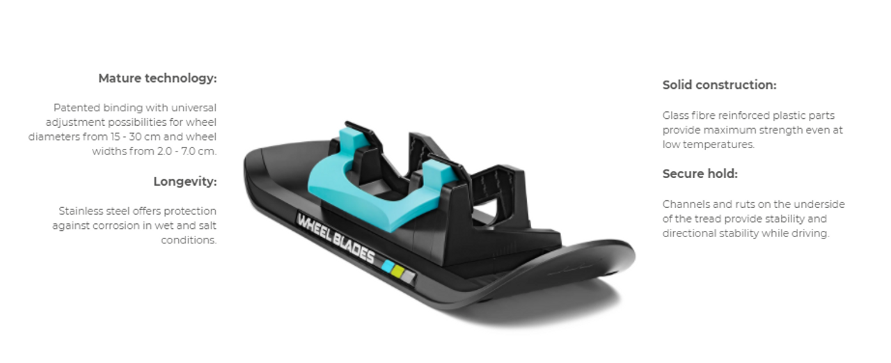 Wheel Blades XL - Skis for snow and sand (sold as a pair)