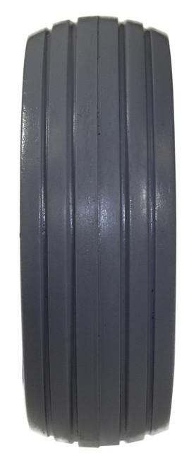 "6 x 2"" Light Gray 4 RIB TIRE Fits Most Two Piece Wheels"
