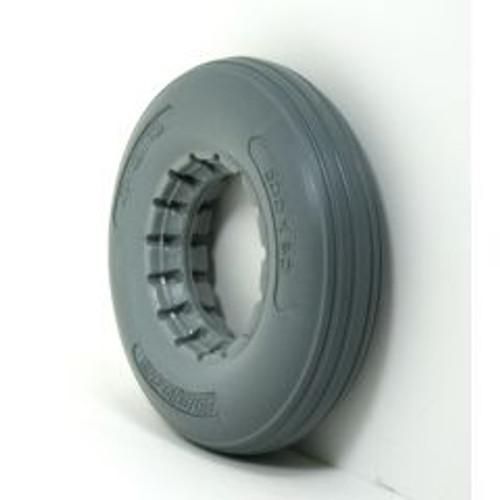 "8 x 2"" Light Gray RIB TIRE For 2 Piece Wheel"