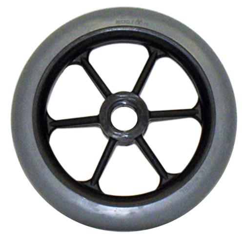 """6 x 1"""" 6 SPOKE Caster Wheel Molded On Tire"""