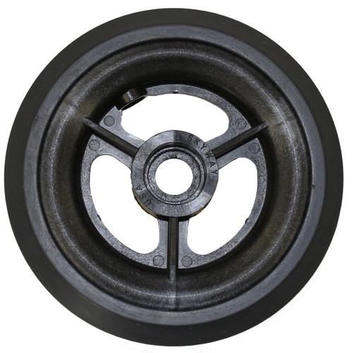 "5 x 1"" 3 SPOKE MAG Caster Wheel Urethane Pyramid Tire"