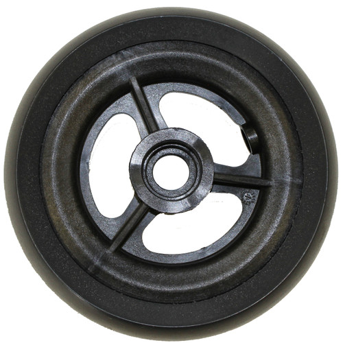 "5 x 1 1/2"" 3 SPOKE MAG Caster Wheel Urethane Wide Tire"