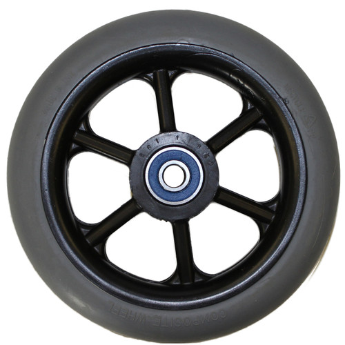 "5 x 1"" 6 SPOKE Caster Wheel Molded On Tire"